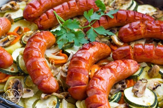 Kolbász zöldségek (3)