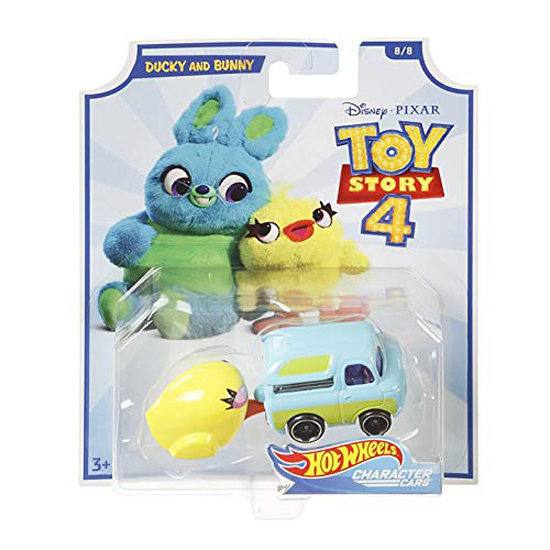 Disney Pixar Toy Story 4 Hot Wheels Character Cars Ducky And
