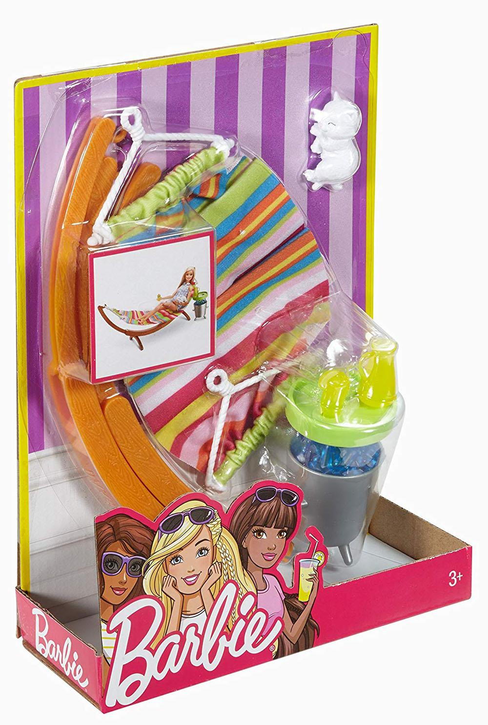 Barbie Hammock Furniture /& Accessory Set