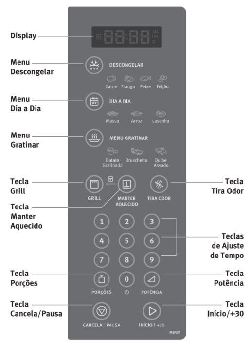 Como utilizar a função grill do Microondas Electrolux 34 litros de embutir MB43T