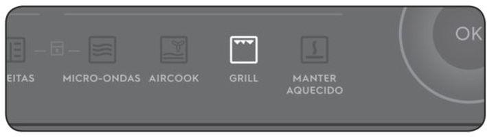 Como utilizar a função grill do microondas MGA42 - Tecla grill