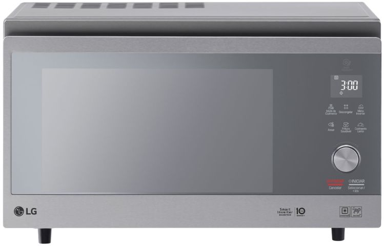 Medidas do Forno com Microondas LG 39 litros Inverter - MJ3967APR