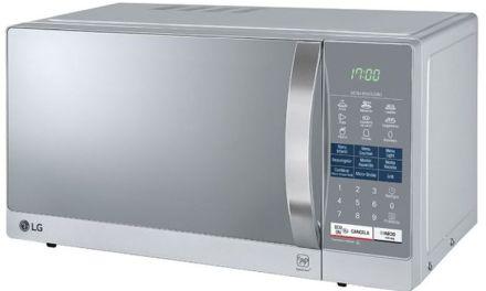 Medidas do Microondas LG 30 litros Espelhado com Grill – MH7057Q