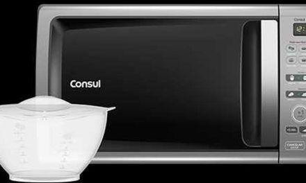 Como ajustar a potência do microondas Consul Facilite 20 litros com pote Uso fácil CMD20