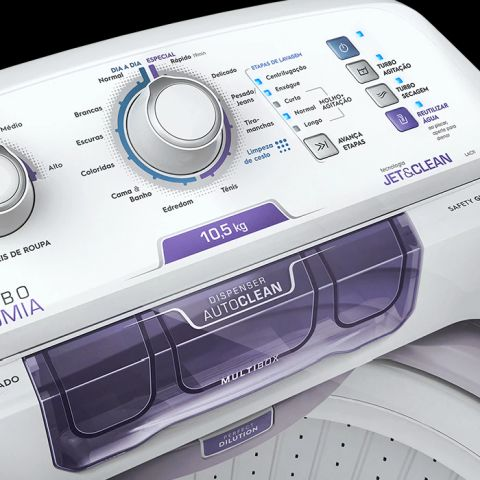 Como limpa a Lavadora de roupas Electrolux 10,5 Kg com Dispenser Autolimpante - LAC11