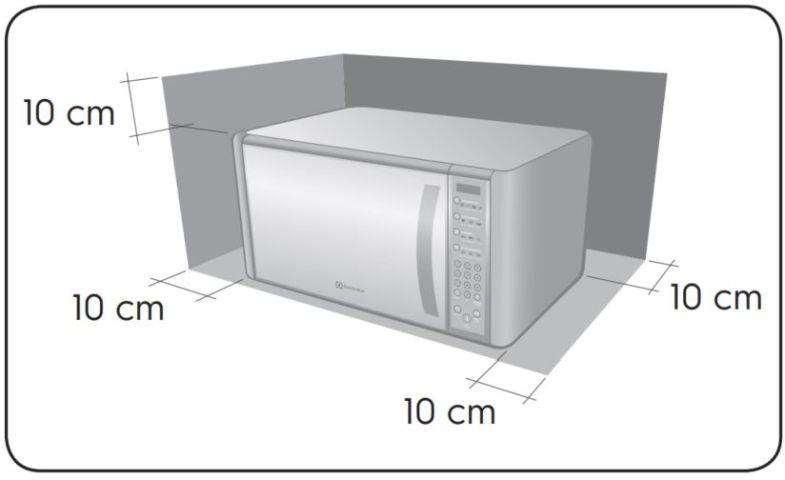 Local da Instalação do Microondas Electrolux 31 litros Meus Favoritos MEF41