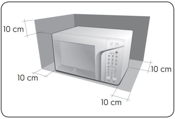 Local da Instalação do Microondas Electrolux 31 litros Ponto Certo - MEP41