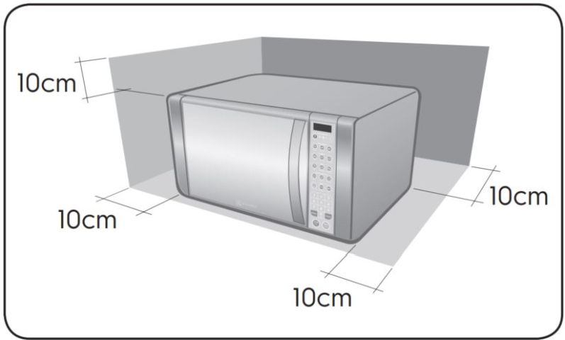 Local da Instalação do Microondas Electrolux 31 litros com Grill - MEV41