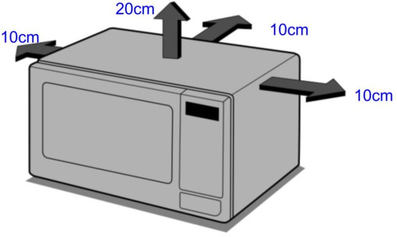 Local da Instalação do Microondas LG 30 litros Prata com Grill - MH7053R