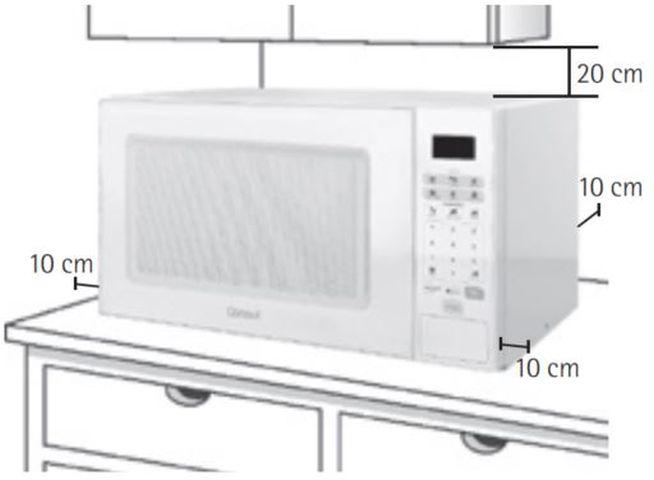 Local da Instalação do Microondas Consul 30 litros Branco - CMW30