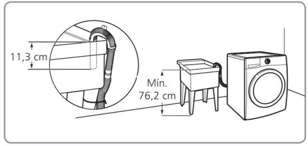 Lavadora de roupas Brastemp - BNQ14 - Escoamento de água no tanque