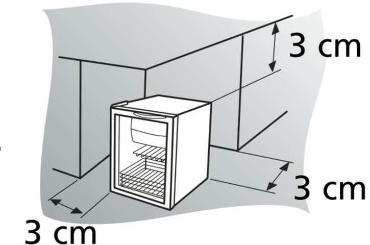 Instalação de Frigobar Brastemp - distâncias ao redor