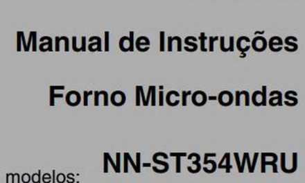 Manual de Instruções do Microondas Panasonic Piccolo 25L – NN-ST375