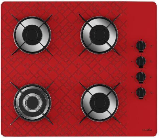 Medidas de Cooktop Casavitra 4 queimadores triplo - tetris vermelho