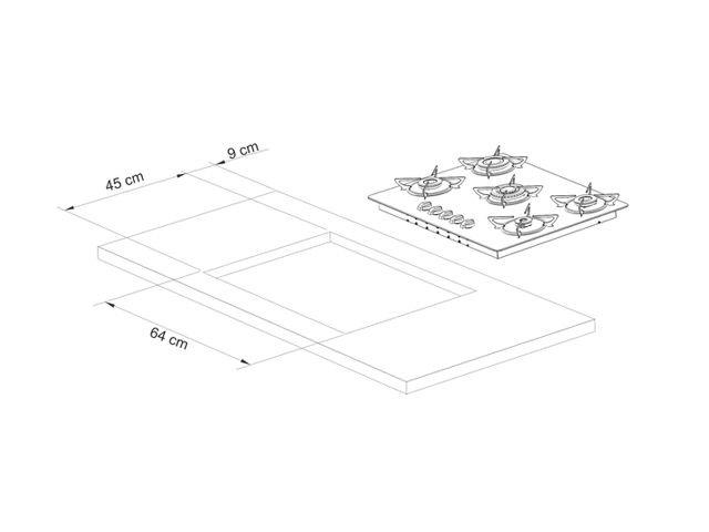instalação cooktop Casavitra - dimensões do nicho
