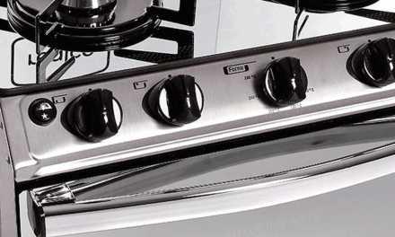 Medidas do Fogão a Gás Realce 4 bocas Cronos Glass Inox