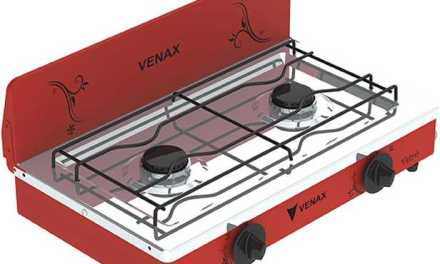 Medidas do Fogão Portátil a gás 2Q Venax Flamalar Vetrô Vermelho