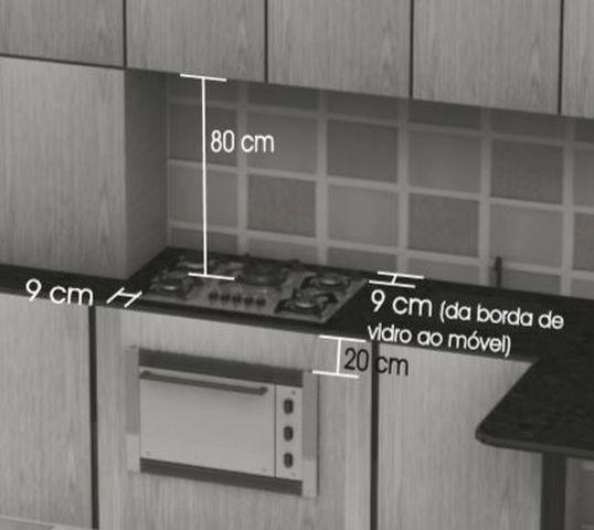 Instalação do cooktop Mueller - Distãncias ao redor