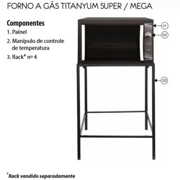 Forno a gás Layr Titanyum Super Industrial - Conhecendo o produto