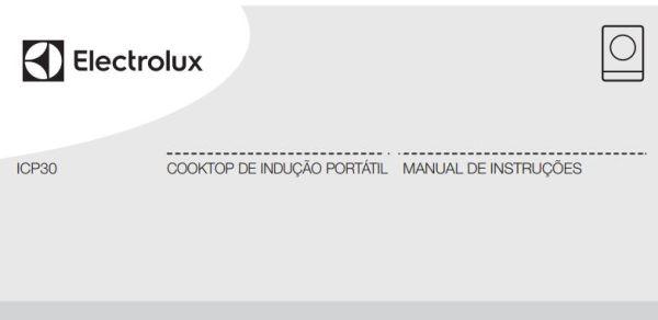 Manual de instruções do Cooktop Indução 1Q Portátil ICP30