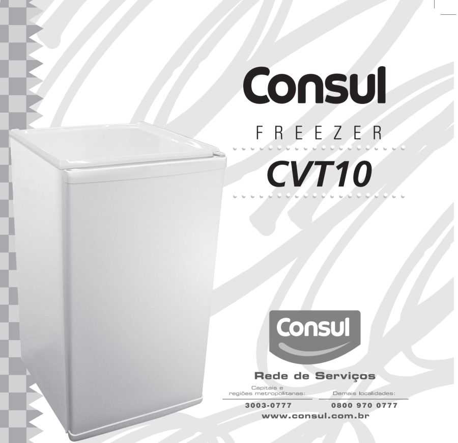 Manual de instruções do freezer Consul CVT10