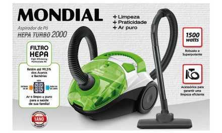 Medidas do Aspirador de pó Mondial Hepa Turbo 2000 Green – AP-17