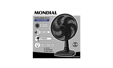 Medidas do Ventilador Mondial 30 cm Maxi Power 6 Pás – NV-15-6P-FB