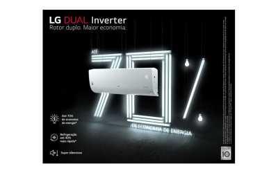 Medidas do ar condicionado dual inverter LG Frio 24000BTU – S4-Q24K23