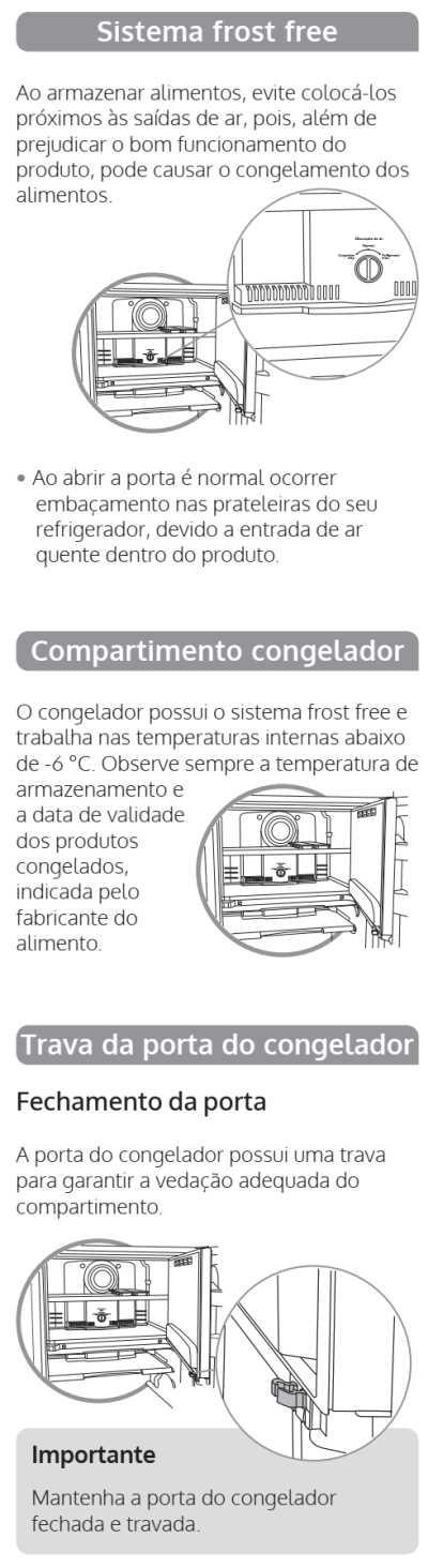 Geladeira Consul CRG36 - componentes 1