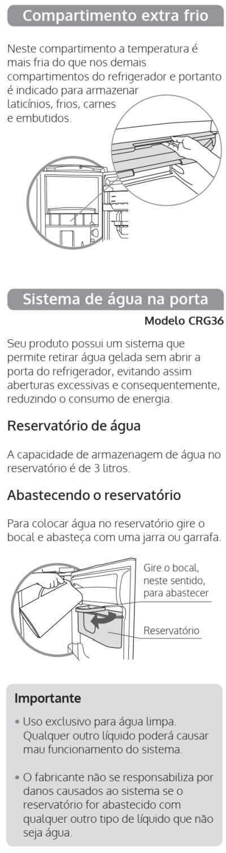 Geladeira Consul CRG36 - componentes 2