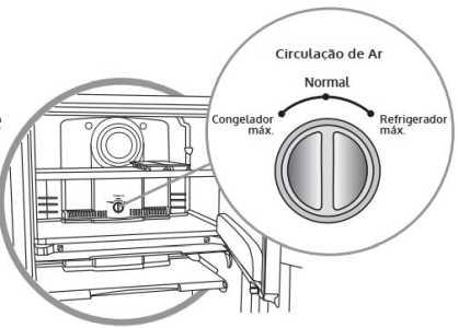 Geladeira Consul CRB39 - Regulador de ar
