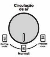 Geladeira Consul CRM35 - Regulador de ar