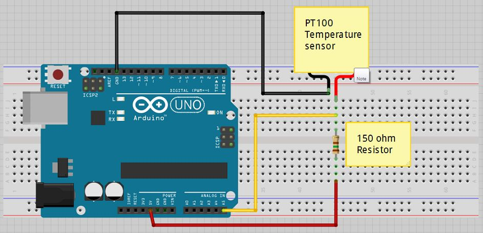 Heat Probe Pid Wiring Diagram Liga 231 227 O Do Sensor Pt100 Na Placa Do Arduino Arduino
