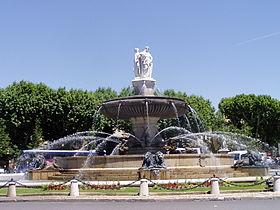 utazás lakóautóval Provence - Aix-en-Provence, Fontaine de la Rotonde