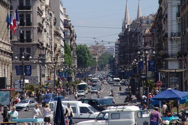 utazás lakóautóval Marseille - belváros