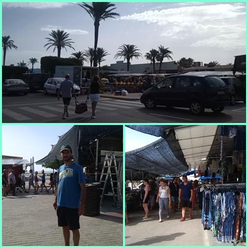 Empuriabrava szombati piac a tengerparton