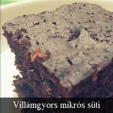Villámgyors mikrós süti
