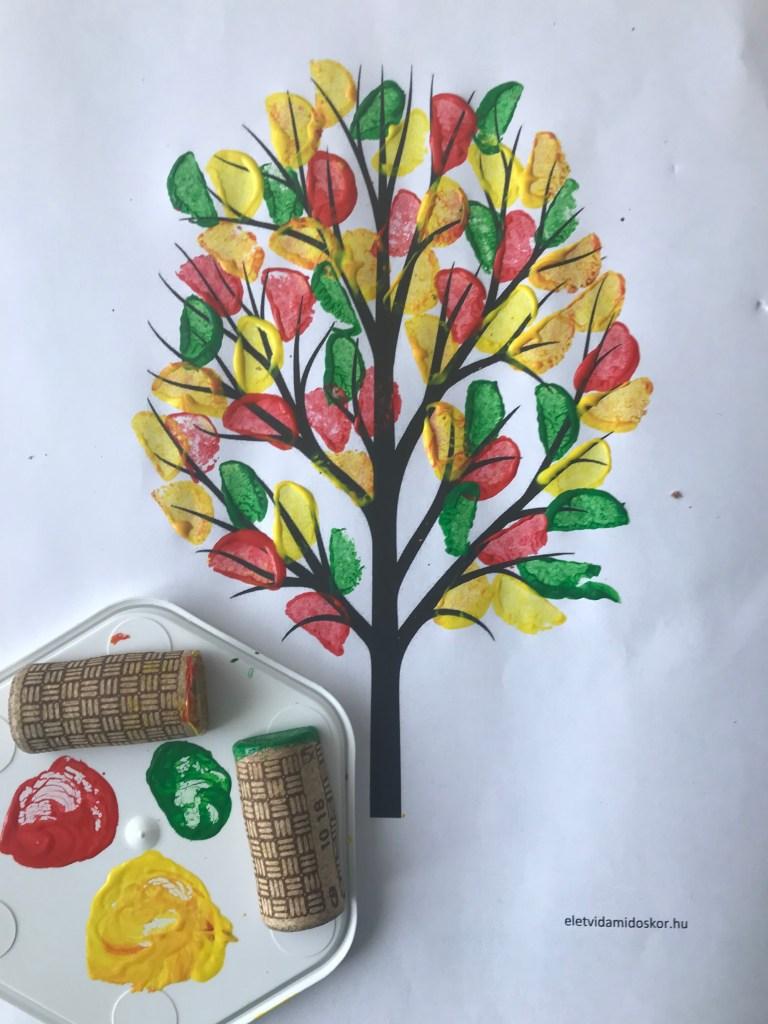 Őszi kreatív fa