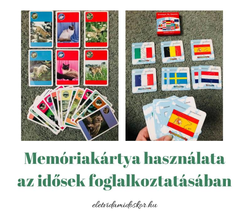 Memóriakártya használata az idősek foglalkoztatásában