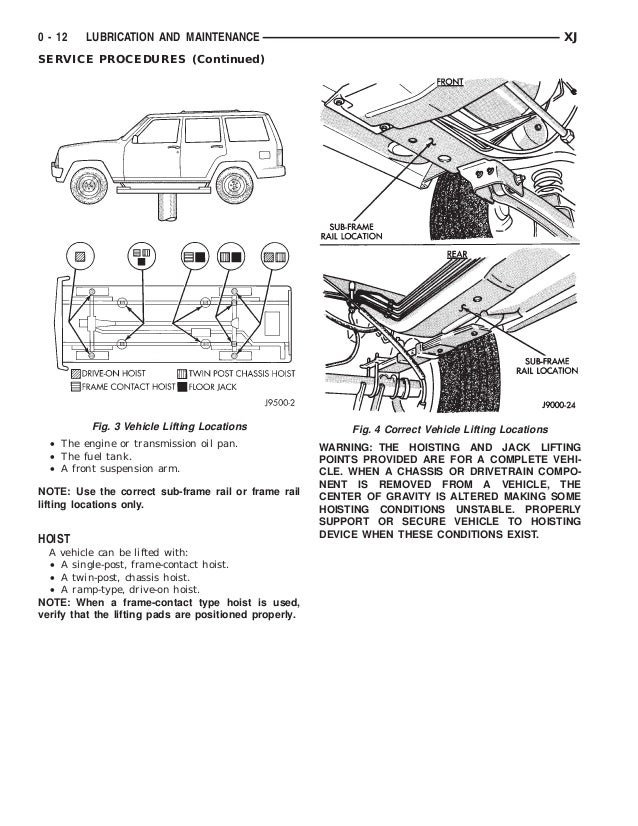 Jeep cherokee laredo workshop manual