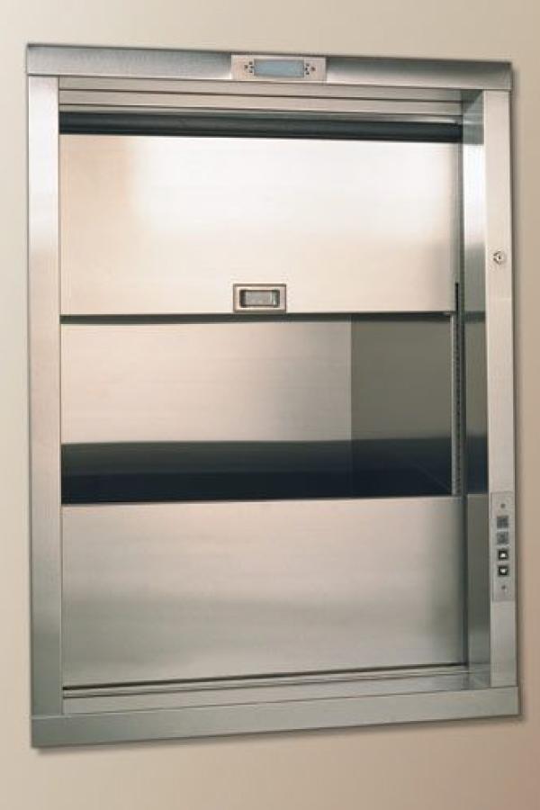 elevador montaplatos gris