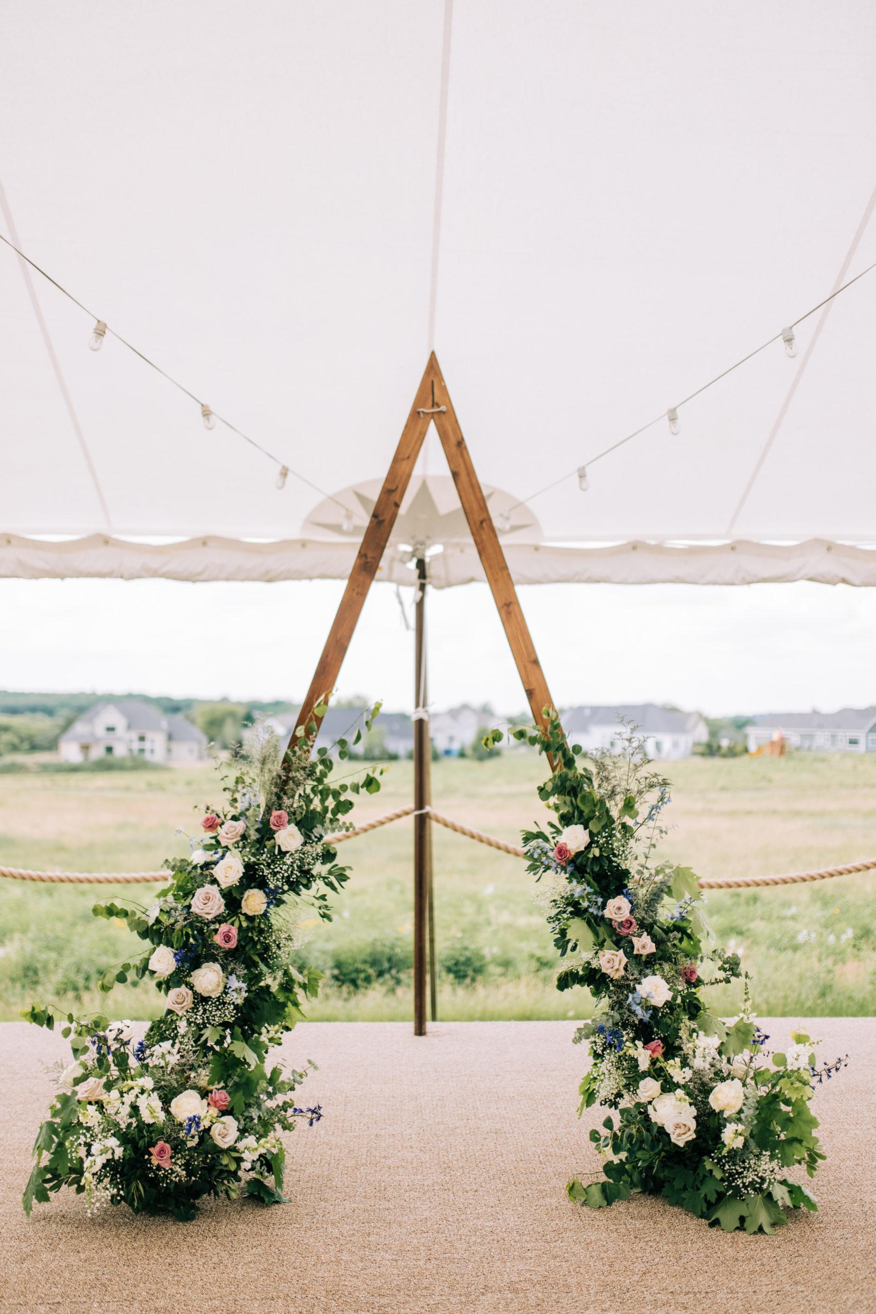 Julie & Alex's Mountain-esque Tented Wedding