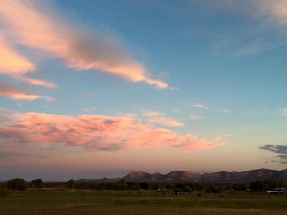 Fantastic sunset at Cedar Mesa Ranch.