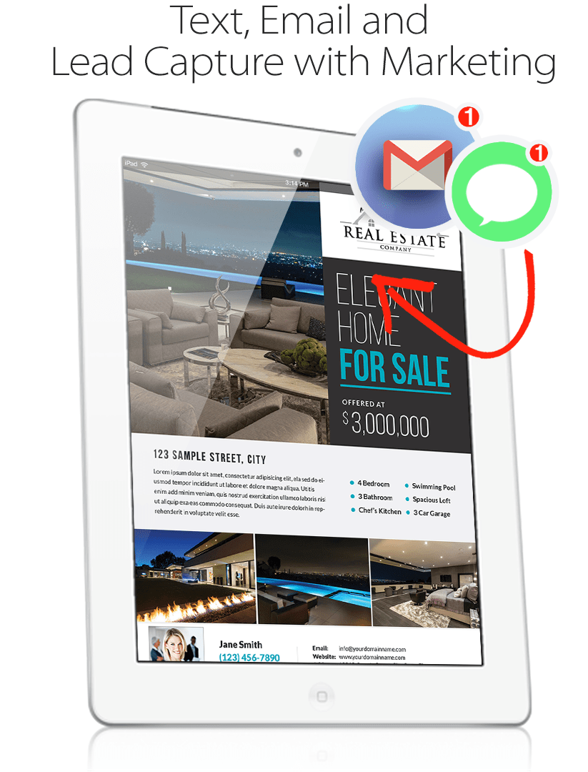 For Sale Print Flyer on iPad
