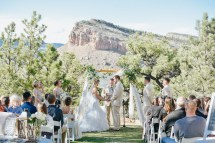 Mountain Sunset Wedding Ceremony