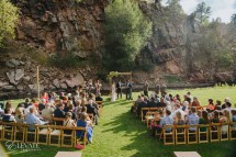 Outdoor Wedding Ceremony in Mountains