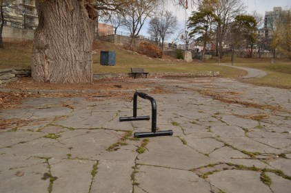 May not look like a gym, but calisthenics makes it one.