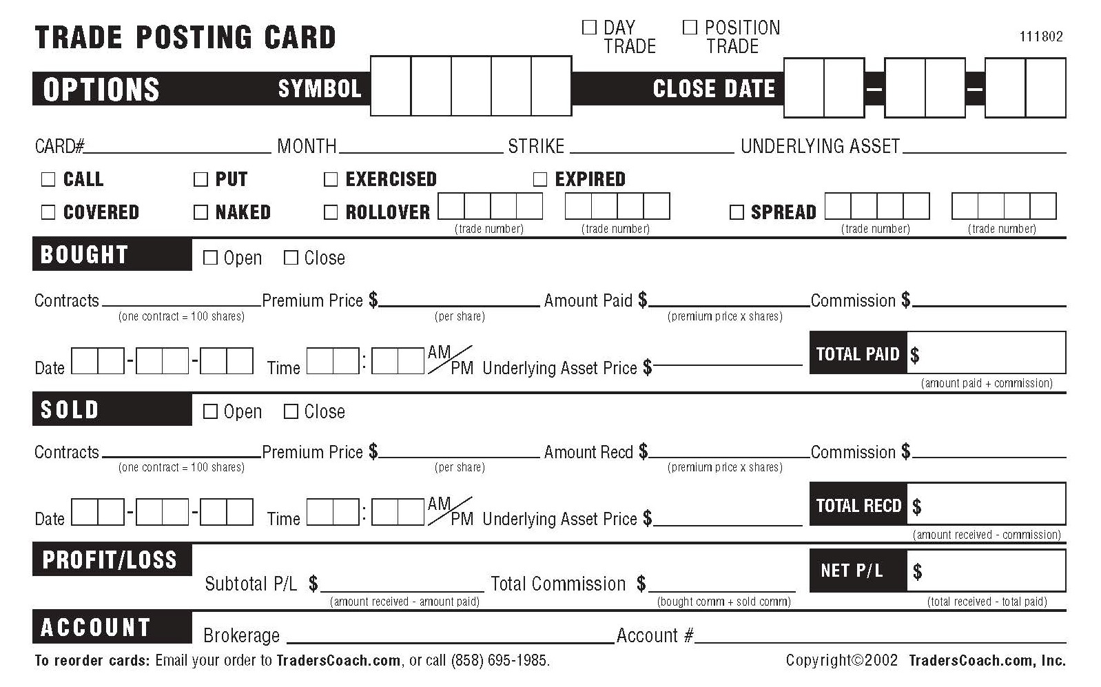 $10 Record Keeping Forms Special Savings Offer