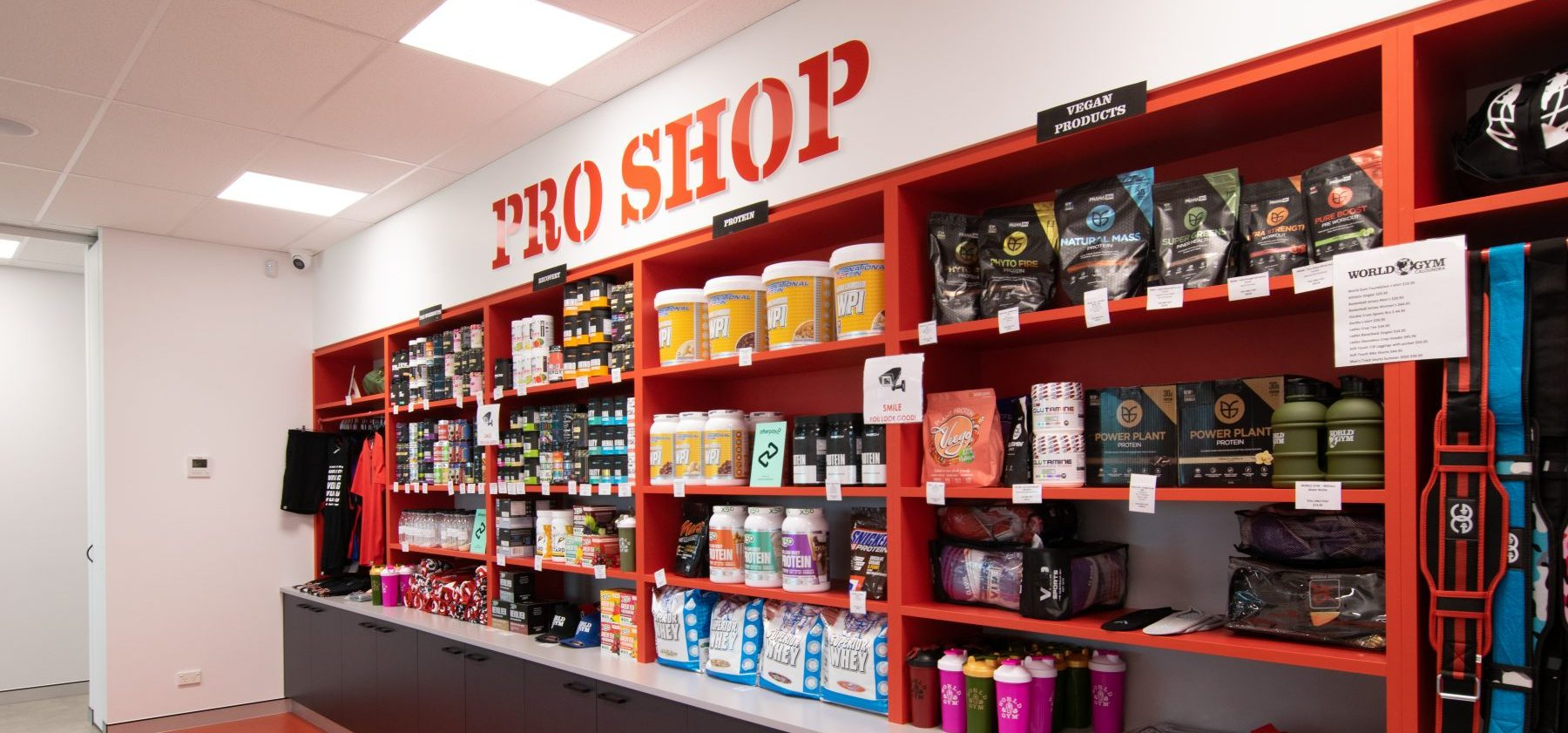 World Gym Interior Pro Shop