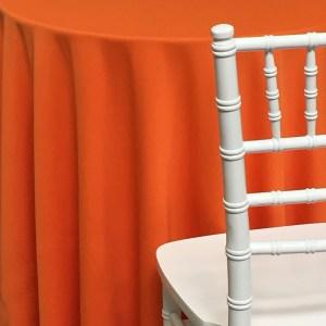 Orange Poly Cotton Linen